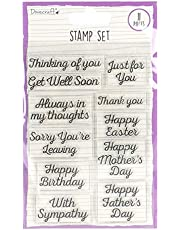 Dovecraft DCBS186 Clear Set-General Occasion Sentiments-11 Thoughtful Phrases-for Card Making, Stamping, Embossing, DIY, Papercraft, Home Décor & Scrapbooking, One Size