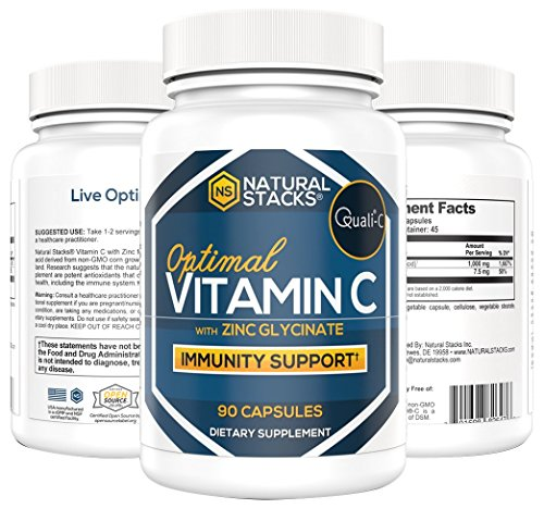 Natural Stacks Vitamin C Supplement - 90 Capsules - Immunity Support - Synergetic Protection - Improve Overall Health (Protection Overall)