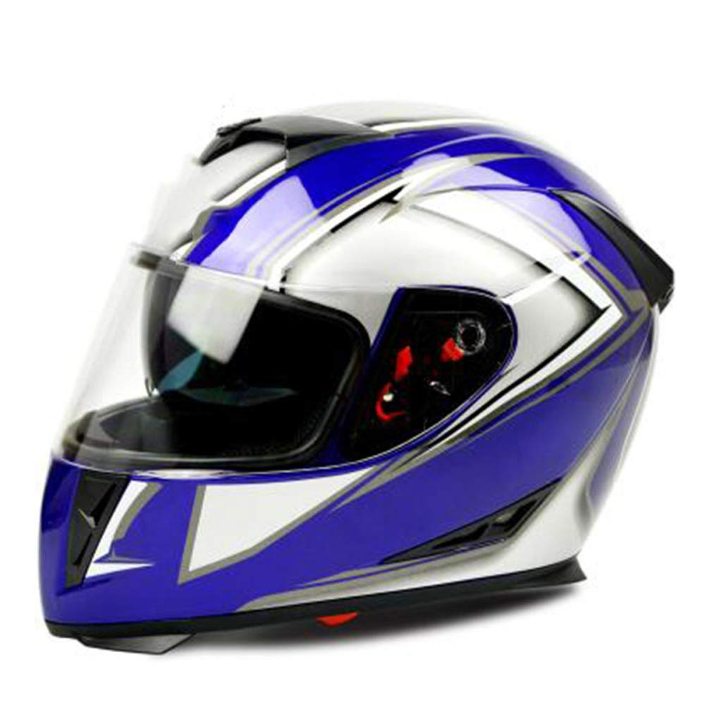 TZQ Anti-Fog Helm Motorrad Doppelobjektiv Herren Reithelm Damen Schutzhelm