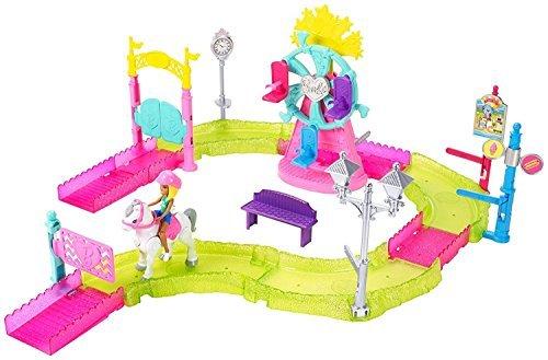 Kids Girls Indoor Playtime Fun Barbie on the Go Carnival Pony Track Ferris Wheel