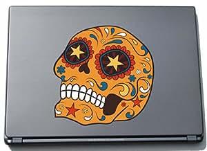 Ordenador portátil del ordenador portátil de la piel, francamente 003 - loca cráneo - 210 x 211 mm Etiqueta