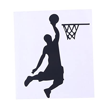 WINOMO Jugador de Baloncesto atlético Dunking Light Switch Decal ...