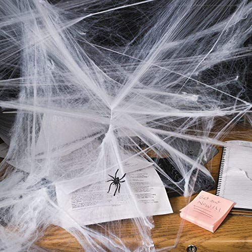 Fun Express Stretchable Spider Webs | 2-Pack (24