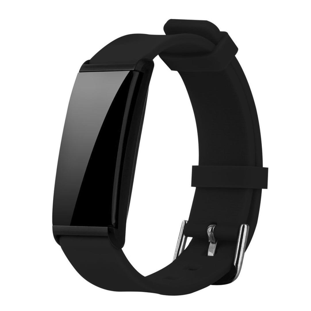 ikevan soropin新しいx9スマートブレスレットハートレート血圧酸素リストバンドFitness Smartband forスポーツ Strap Length 24.5cm/9.64inch オレンジ B0776TRDQD ブラック  ブラック