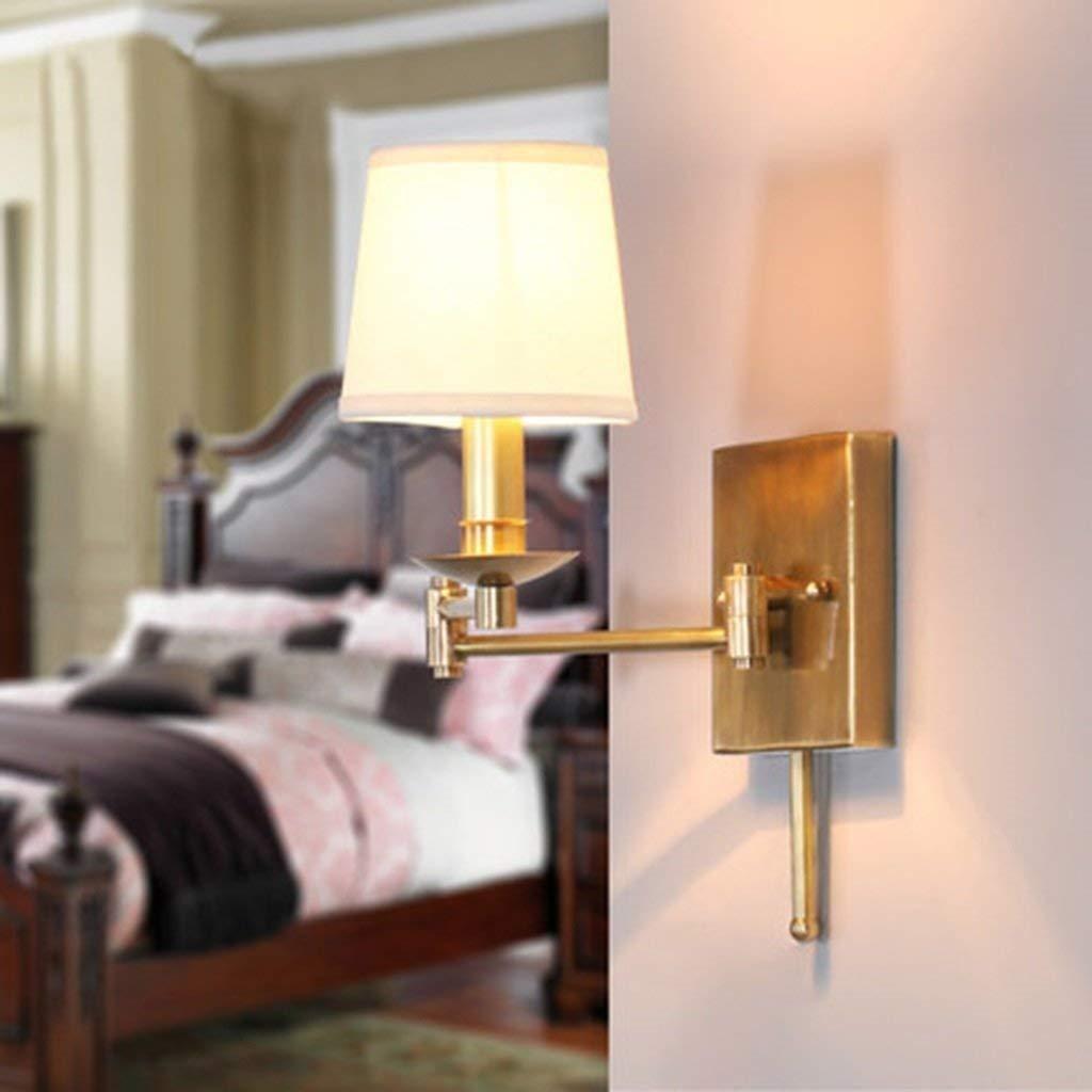 XINXI Home Wohnzimmer Wohnzimmer Wohnzimmer Nachtwandlampe Originalität Alle Kupfer Wandleuchte Versenkbare Schütteln Kopf Tuch Wandleuchte Schlafzimmer B07QF1WD2D   Erschwinglich  f65409