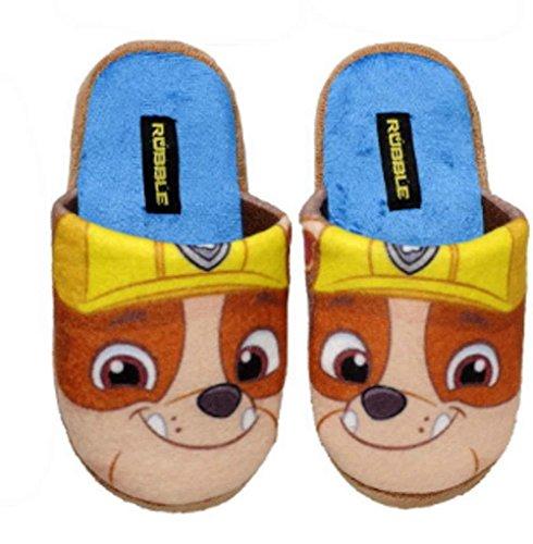 Nickelodeon - Zapatillas de estar por casa de Material Sintético para niño RUBBLE