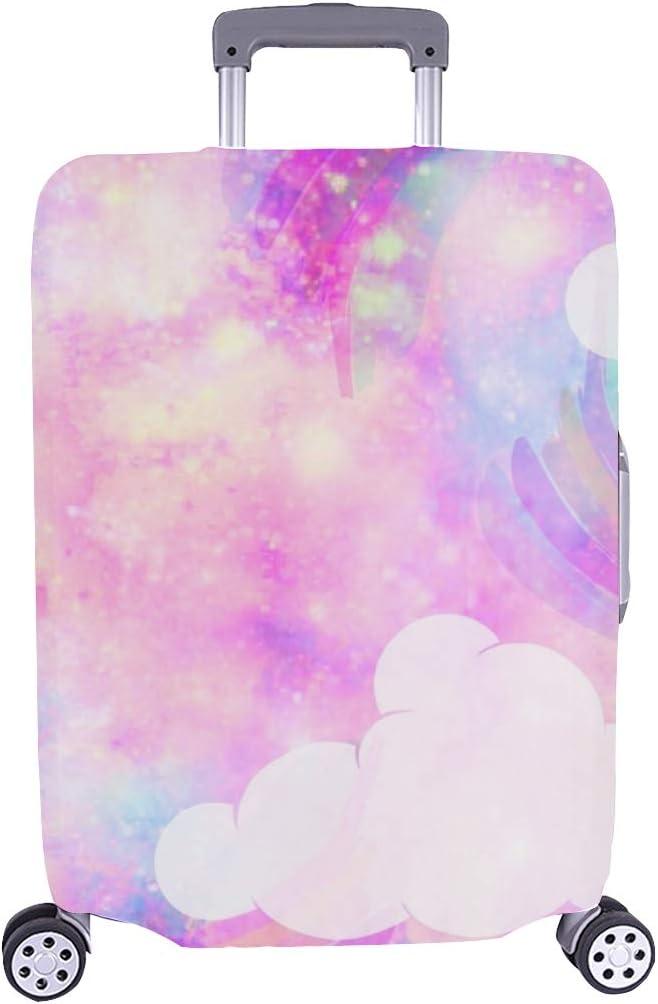 Unicornio Galaxy Cloud Rainbow Fantasy Imprimir Stock Ilustración Patrón Spandex Maleta de Viaje Maleta Protectora de Viaje Cubierta Protectora para de Maleta 28.5 X 20.5 Inch