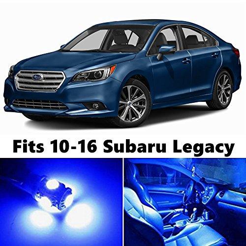 Subaru Legacy Interior (14 X Premium Blue LED Lights Interior Package Upgrade for 2010-2016 Subaru Legacy)