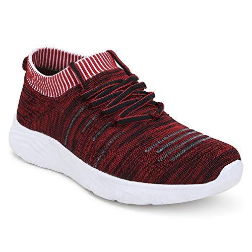 Styfoot Red Grey Men s Sports Jogging Casual Slip On Walking Shoes