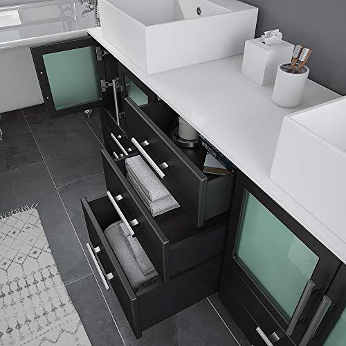 Bellaterra Home 205060-D-CR 60-Inch Double Sink Vanity, Wood, Cream White
