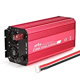 UFire 3000W Power Inverter DC 12V To 110V AC Car Converter With Dual AC Outlets 2A USB Port Car Adapter -Red