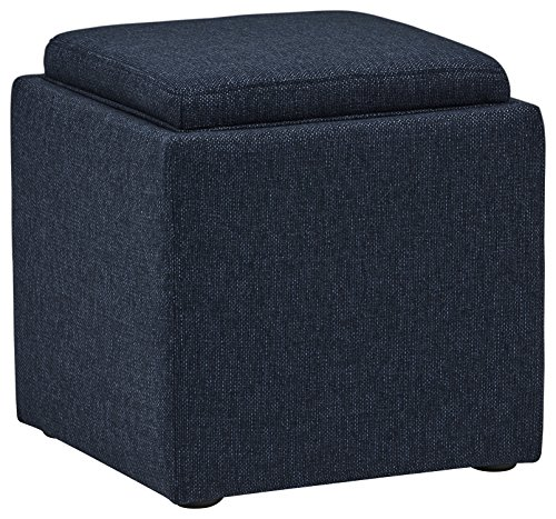 Rivet Ross Tweed Modern Lift-Top Storage Ottoman, 18