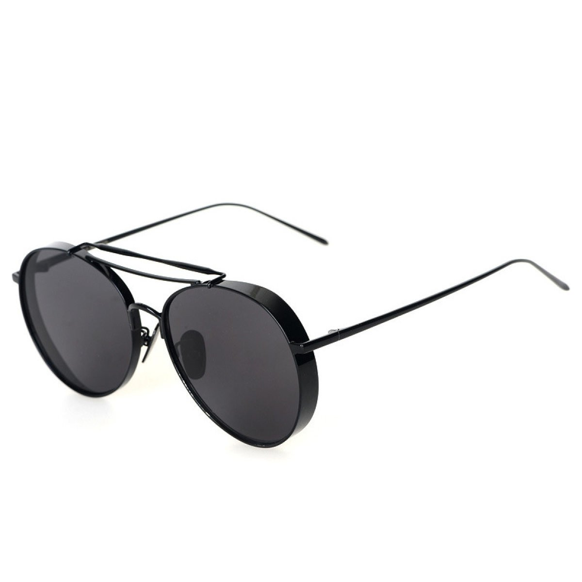 Kreisförmige Farbfilm Polaroid Mode Persönlichkeit Bequem Männer Metallrahmen Sonnenbrillen ,A