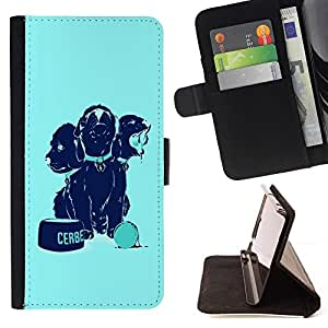DEVIL CASE - FOR Samsung Galaxy S3 III I9300 - cool funny dogs food cute - Style PU Leather Case Wallet Flip Stand Flap Closure Cover