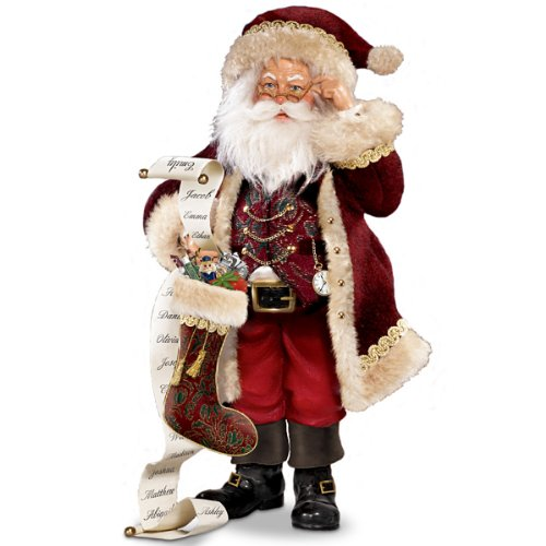 Thomas Kinkade St. Nicholas, Naughty Or Nice Santa Figurine by The Bradford Editions