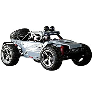 HUKOER Remote Control Car For Kids - Rock Crawler Car with 1:12 Full Scale 2.4GHz Off Road High Speed Four-wheel Drive RC Car (Grey)