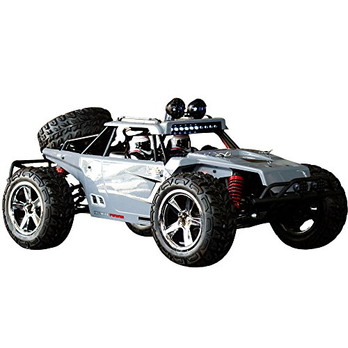 Crawler Micro Rock - HUKOER Remote Control Car For Kids - Rock Crawler Car with 1:12 Full Scale 2.4GHz Off Road High Speed Four-wheel Drive RC Car (Grey)