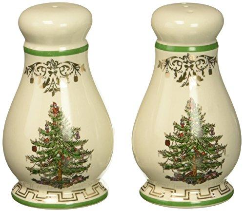 Spode Christmas Tree Salt - Spode Christmas Tree Gold Salt and Pepper Set