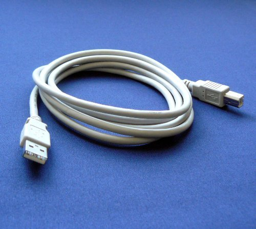 (Epson Stylus NX420 Printer Compatible USB 2.0 Cable Cord for PC, Notebook, Macbook - 6 feet White - Bargains Depot®)