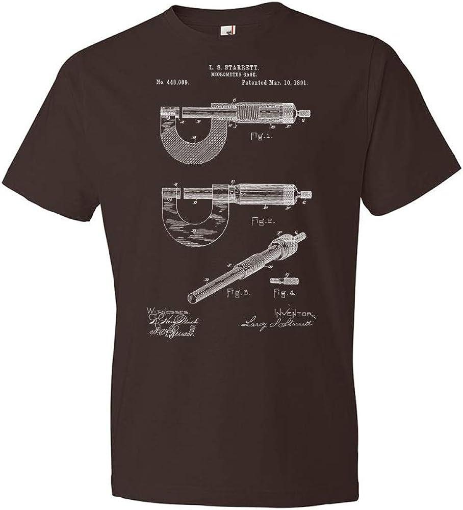 Micrometer Tee Engineer Gift Starrett Micrometer Gage Patent T-Shirt