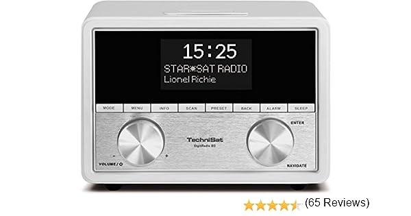 TechniSat DigitRadio 80 - Radio Digital (Radio Despertador, Dab + / FM, 2 x 5 W, conexión para Antena Externa, 3.5 mm Clavija-Entrada/Salida), Blanco: Amazon.es: Electrónica