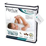 Perlux Hypoallergenic Tencel 100% Waterproof Crib Mattress Protector - Vinyl, PVC, Phthalate and Pesticide Free