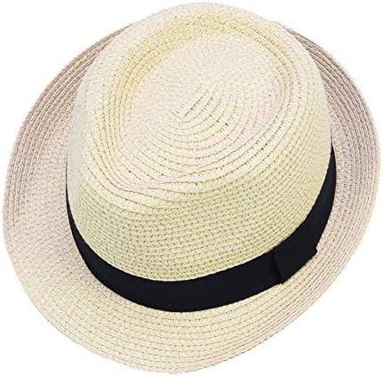 Kids Boys Girl Fedora Hat Cap Straw Jazz Sunhat Sunbonnet Summer Fashion #ZB1