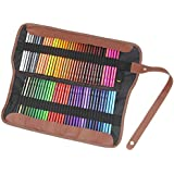 Everyday Essentials Premium Colored Pencils - Set of 72 Individual Colors with Roll up Pouch Canvas Pen Bag (72-Color)