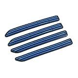 sourcing map 4pcs Blue 11.6cm Length Car Side Door Edge Guard Protector Strip