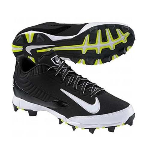 NIKE HUARACHE KEYSTONE LOW GS BLACK/WHITE YOUTH MOLDED BASEBALL CLEATS 4.5Y - Image 2