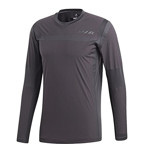 adidas outdoor Mens Terrex Agravic Hybrid Long Sleeve (S - Carbon/Black)