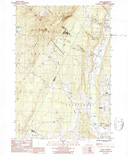 YellowMaps Albany VT topo map, 1:24000 Scale, 7.5 X 7.5 Minute, Historical, 1986, Updated 1987, 26.8 x 22 in - Paper