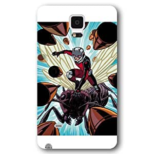 UniqueBox Customized Marvel Series Case for Samsung Galaxy Note 4, Marvel Comic Hero Ant Man Samsung Galaxy Note 4 Case, Only Fit for Samsung Galaxy Note 4 (White Frosted Case)