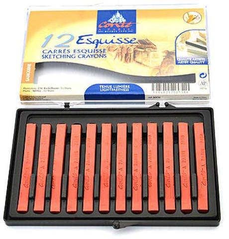 Conte Crayons (Sanguine Natural) - B (Box of 12) 1 pcs sku# 1835669MA
