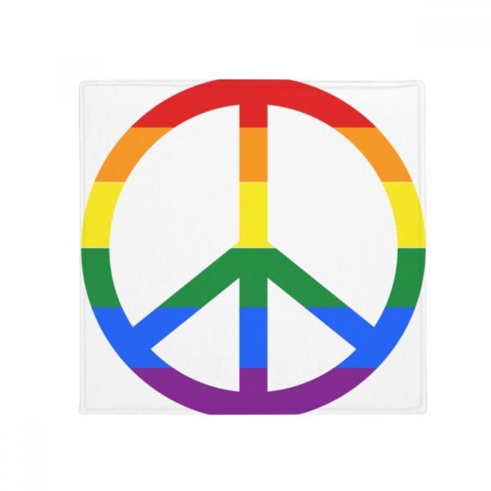 DIYthinker Rainbow Gay Lesbian Anti War LGBT Anti-Slip Floor Pet Mat Square Home Kitchen Door 80Cm Gift