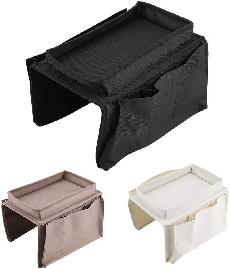 fditt Divano Couch Storage Bag Bracciolo Hanging TV Telecomando Organizzatore con portabicchieri Vassoio Home D/écor Portariviste Beige