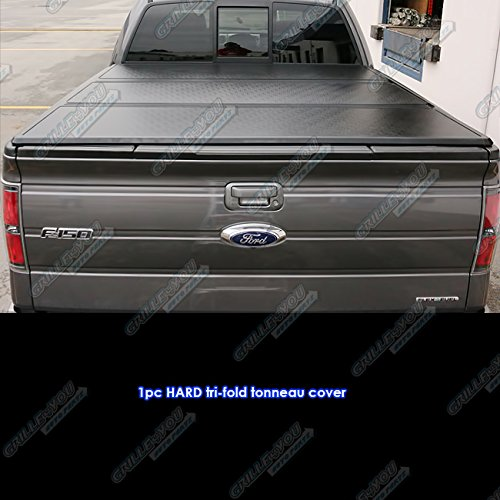 F150 Bed Short Supercrew - Ford F-150 Supercrew Cab 5.5Ft Short Bed 2004-2014 Hard Tri-Fold Tonneau Cover
