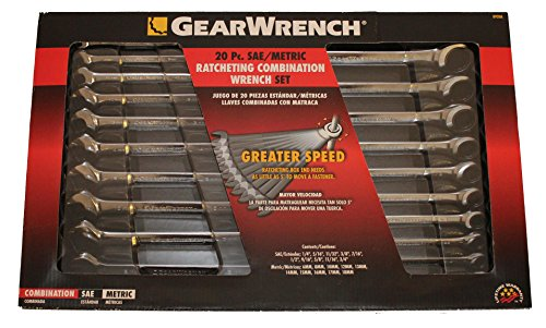 GearWrench 20-Piece Ratcheting Wrench Set, SAE and Metric # 8920A (Gearwrench Metric Torque Wrench)