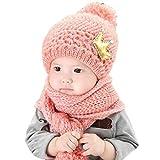 DaySeventh Cute Winter Unisex Baby Warm Woolen Coif Hood Scarf Caps Hats