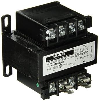 Siemens MT0075B Industrial Power Transformer, Domestic, 240 X 480 Primary Volts 50/60Hz, 24 Secondary Volts, 75VA Rating