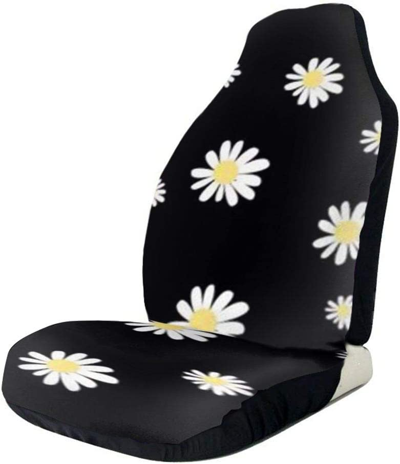 JOPI White Daisy Universal Waterproof Car Seat Cover,Fit Most Car,Truck,SUV,or Van