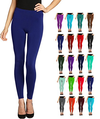 Lush+Moda+Seamless+Full+Length+Leggings+-+Variety+of+Colors+-+Navy