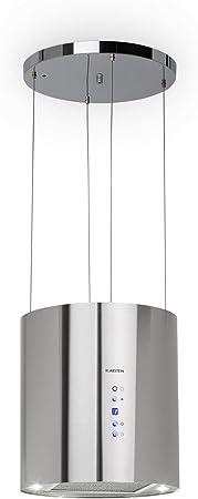 Klarstein Barett - Campana extractora aislada, Ø 35cm, Potencia de 190 W, Ventilación máxima de 590 m³/h, 3 niveles de potencia, CEE B, Iluminación LED, Acero inoxidable cepillado, Plateado: Amazon.es: Hogar