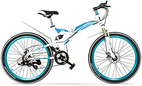 LANKELEISI Bicicleta MTB Plegable K660M de 24/26 Pulgadas ...