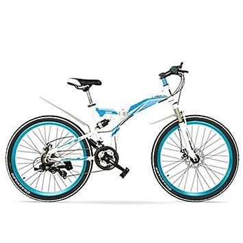 Bicicleta MTB plegable K660M de 24/26 pulgadas, bicicleta plegable de 21 velocidades,