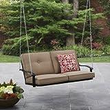 Mainstays Belden Park Outdoor Porch Swing - Tan Seaside Sand Cushions