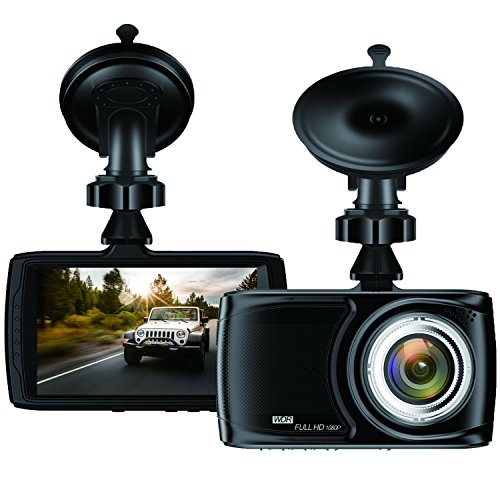 Dash Cam 3.5″ Car camera – BUIEJDOG Car Camcorder 1080P LCD Display Recorder with 170 Degree Viewing Angles Built-in G-Sensor Night Vision Recording Loop Recording and Parking Monitoring