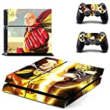Vanknight Vinyl Decal Skin Sticker Anime Saitama Genos One Punch Man for PS4 Playstaion Controllers