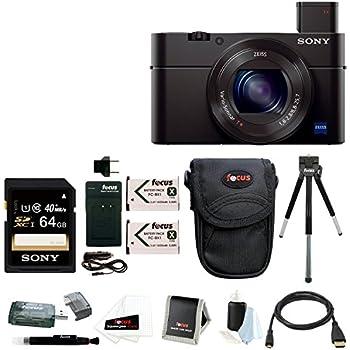 Sony DSC-RX100M II Cyber-shot Digital Camera with 64GB Accessory Bundle
