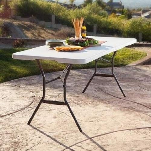 Cheap Portable Banquet,Conference,Utility Folding Tables (White Granite, 6′)